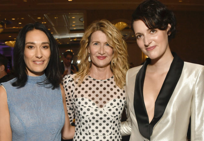 LOS ANGELES, CALIFORNIA - JANUARY 03: (L-R) Actor Sian Clifford, actor Laura Dern, and actor-producer Phoebe Waller-Bridge attend the 20th Annual AFI Awards at Four Seasons Hotel Los Angeles at Beverly Hills on January 03, 2020 in Los Angeles, California. (Photo by Frazer Harrison/Getty Images for AFI)