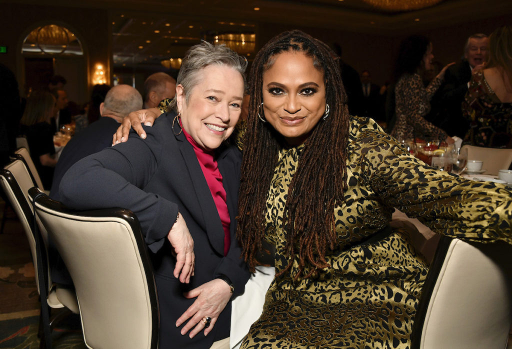 Actor Kathy Bates and filmmaker Ava DuVernay attend the 20th Annual AFI Awards at Four Seasons Hotel Los Angeles at Beverly Hills on January 03, 2020 in Los Angeles, California.
