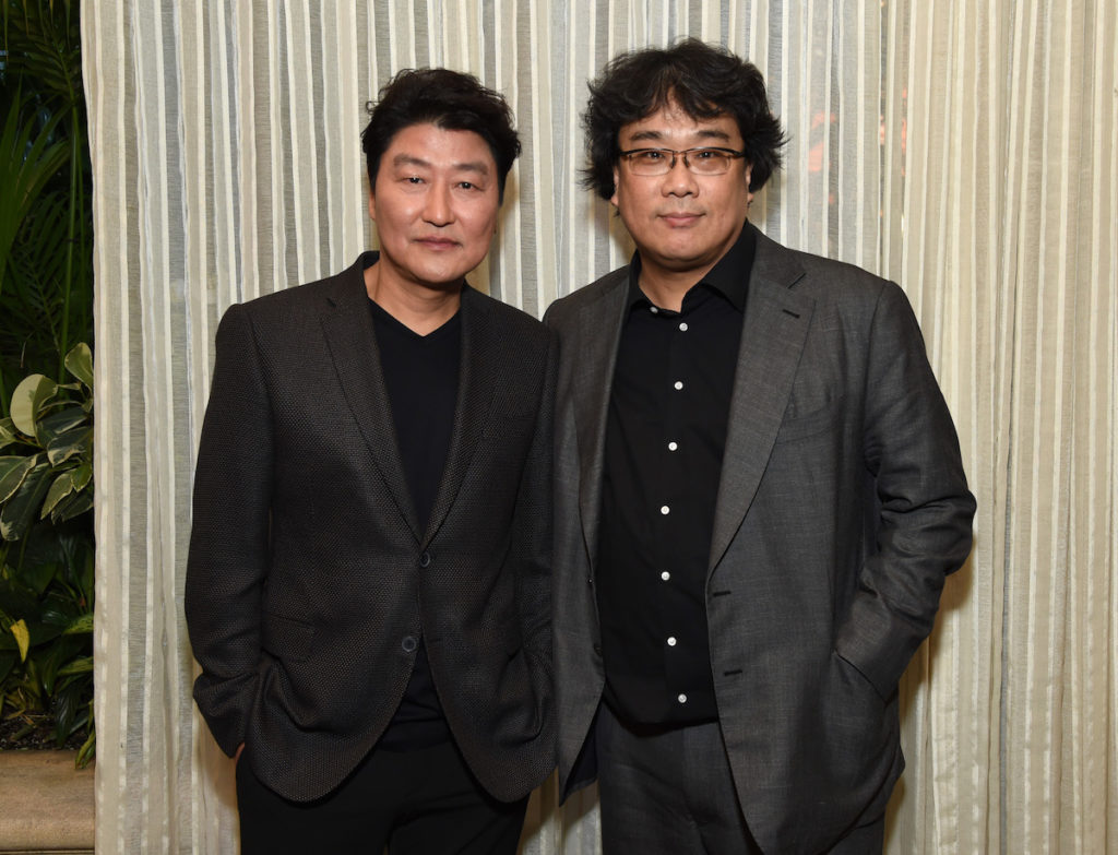 Song Kang Ho (L) and Bong Joon-ho attend the 20th Annual AFI Awards at Four Seasons Hotel Los Angeles at Beverly Hills on January 03, 2020 in Los Angeles, California.