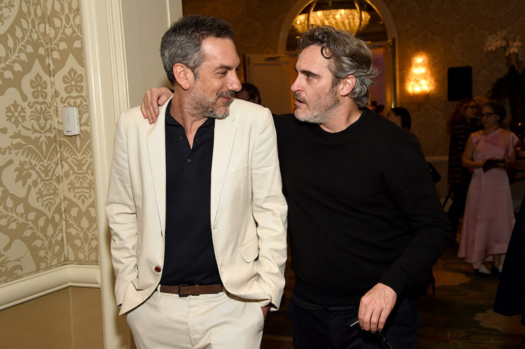 LOS ANGELES, CALIFORNIA - JANUARY 03: (L-R) Director Todd Phillips and actor Joaquin Phoenix attend the 20th Annual AFI Awards at Four Seasons Hotel Los Angeles at Beverly Hills on January 03, 2020 in Los Angeles, California.