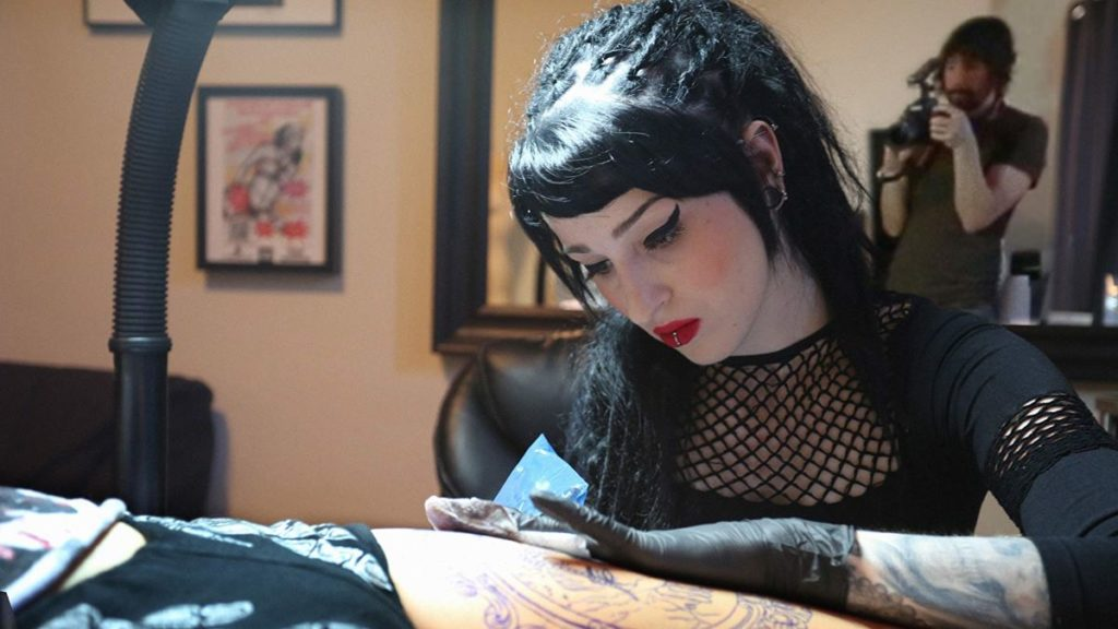 Danielle Bar (tattoo artist) and Steve Markle (filmmaker). Photo credit: © Shoot To Marry