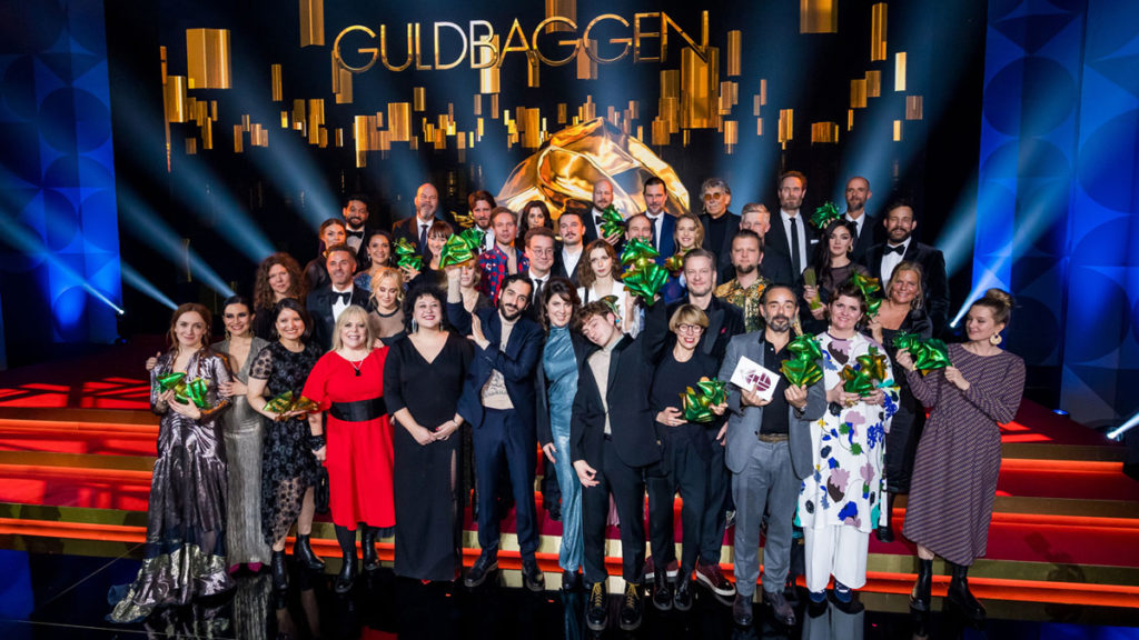 All the 2020 Guldbagge winners at Cirkus in Stockholm, 20 January 2020. Photo: Pelle T. Nilsson