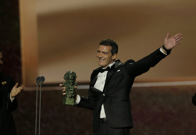Antonio Banderas won the award for Best Actor (Pain and Glory) at 34th Goya Awards