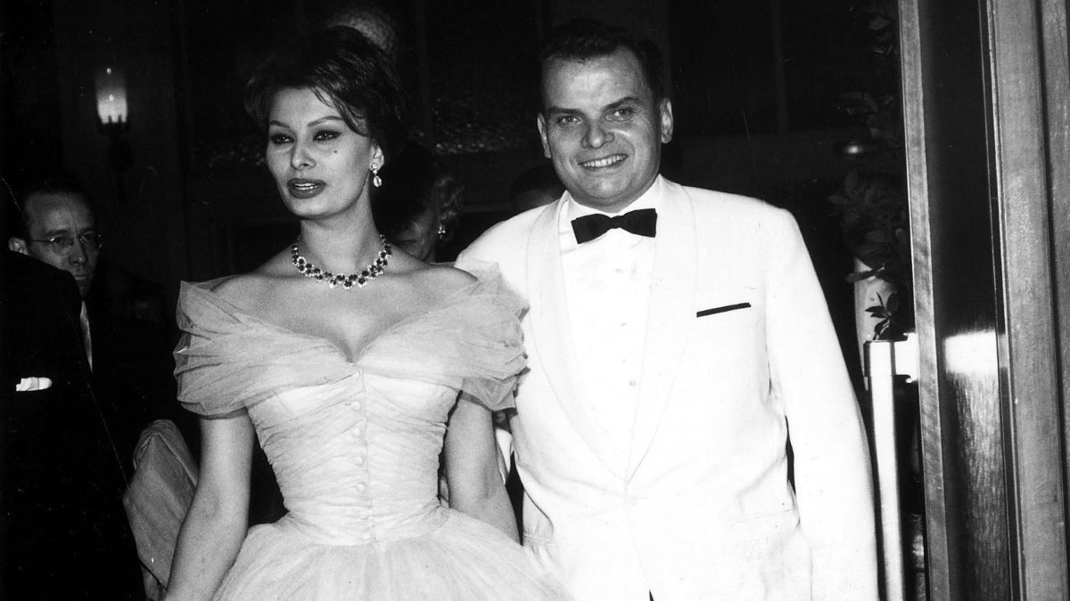 Alfred Bauer with Sophia Loren