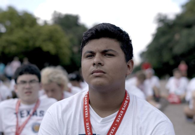 Steven Garza appears in Boys State by Jesse Moss and Amanda McBaine, an official selection of the U.S. Documentary Competition at the 2020 Sundance Film Festival. Courtesy of Sundance Institute | photo by Thorsten Thielow.