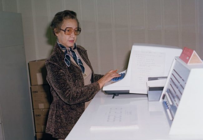 Katherine Johnson at NASA Langley Research Center in 1980 (NASA)