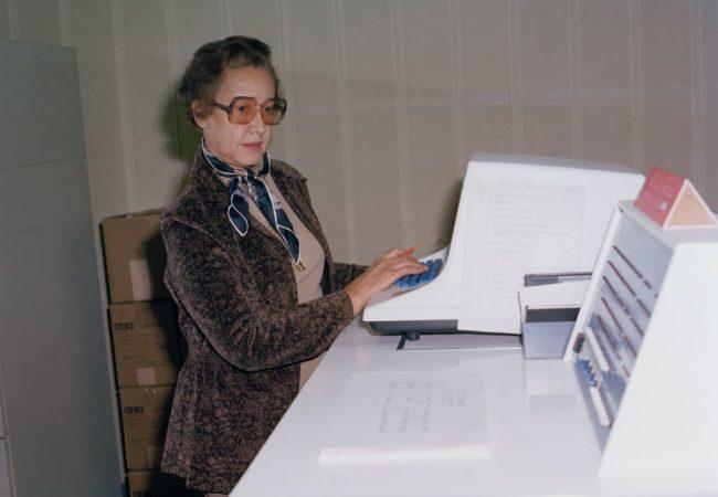Katherine Johnson at NASA Langley Research Center in 1980 (NASA)