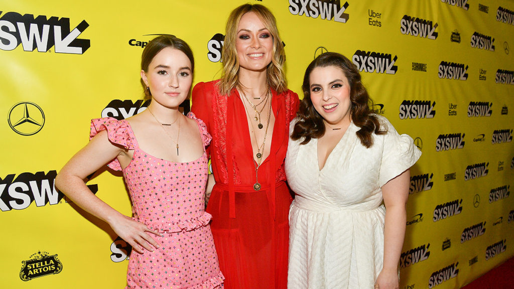 "Kaitlyn Dever, Olivia Wilde, Beanie Feldstein attends the ""Booksmart"" Premiere - 2019 SXSW Conference and Festivals at Paramount Theatre on March 10, 2019 in Austin, Texas."