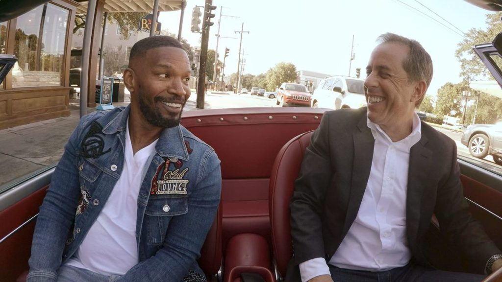 Jamie Foxx with Jerry Seinfeld in Comedians in Cars Getting Coffee on Netflix