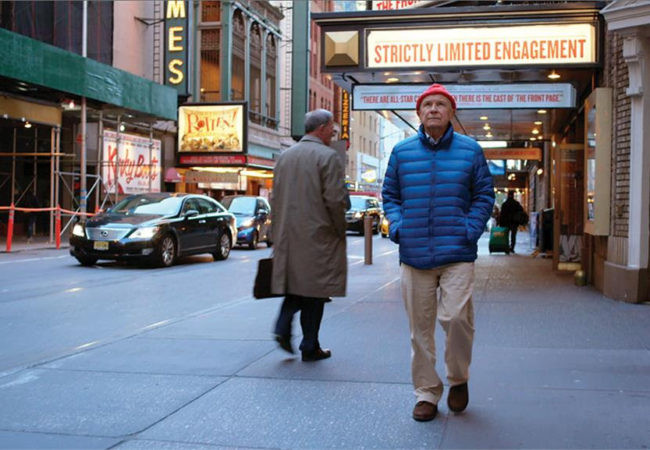 Terrence McNally takes a walk through Broadway in a scene from TERRENCE MCNALLY: EVERY ACT OF LIFE. Photo courtesy of Floating World Pictures