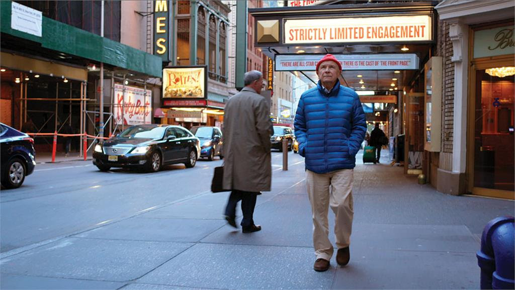 Terrence McNally takes a walk through Broadway in a scene from TERRENCE MCNALLY: EVERY ACT OF LIFE.