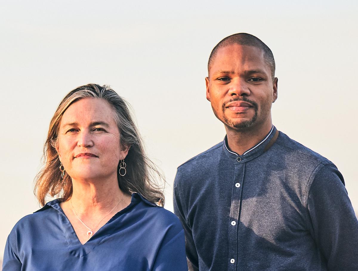 Marlon Johnson and Anne Flatté