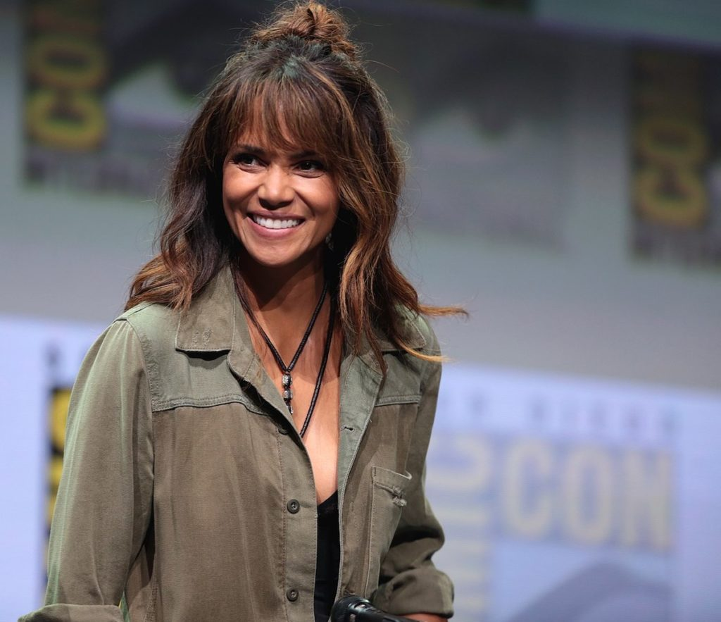 """Halle Berry speaking at the 2017 San Diego Comic Con International, for """"Kingsman: The Golden Circle"""", at the San Diego Convention Center in San Diego, California. Credit: Gage Skidmore."""