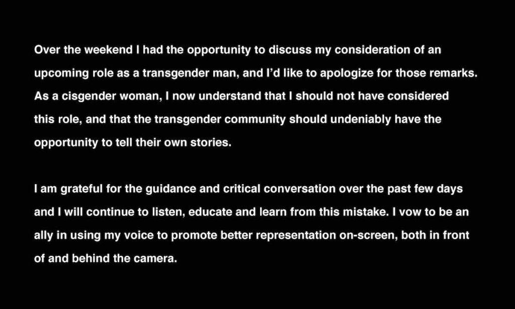 Halle Berry public apology