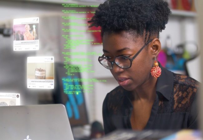 MIT researcher Joy Buolamwini in Coded Bias