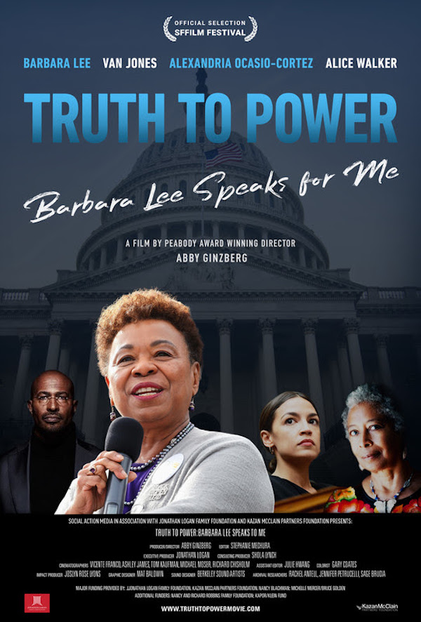 TRUTH TO POWER: BARBARA LEE SPEAKS FOR ME Abby Ginzberg