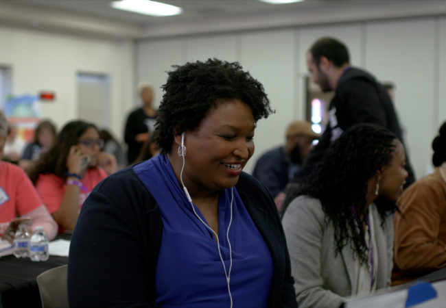 """Stacey Abrams in 'All In: The Fight For Democracy"""" Courtesy of Amazon Studios"""
