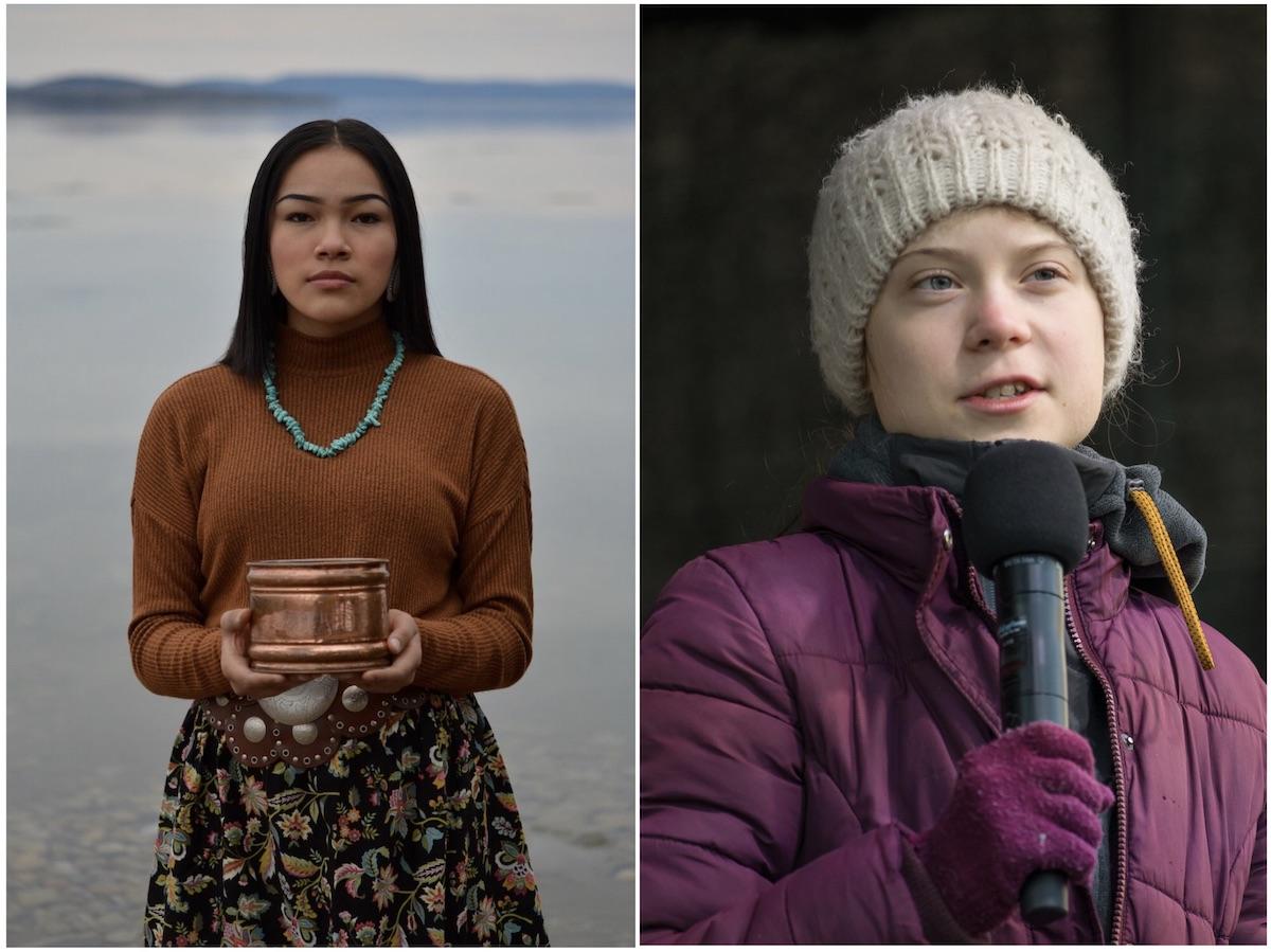 Autumn Peltier, Greta Thunberg