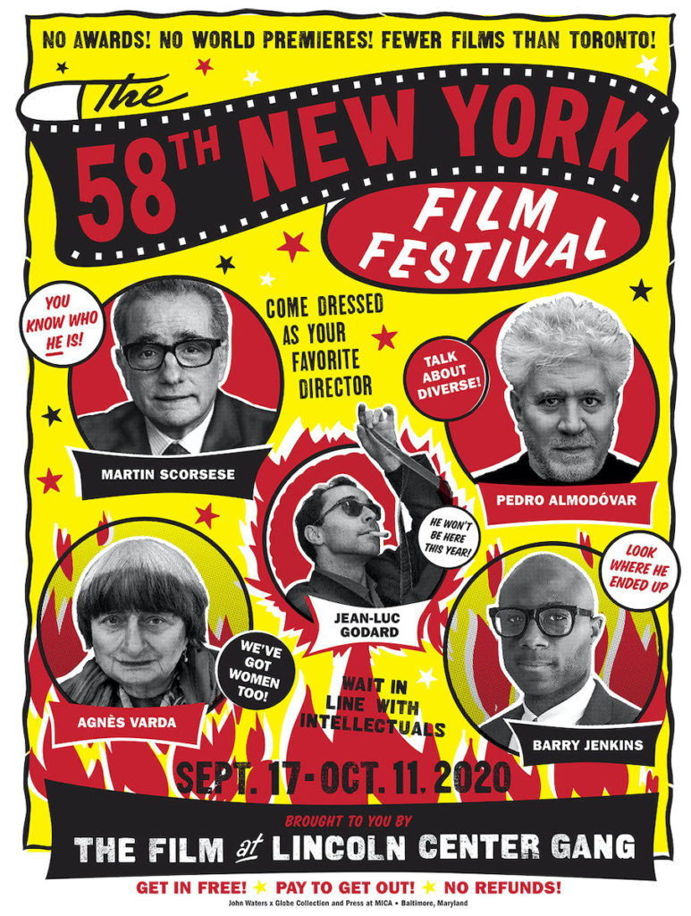 58th NEW YORK FILM FESTIVAL POSTER, DESIGNED BY JOHN WATERS