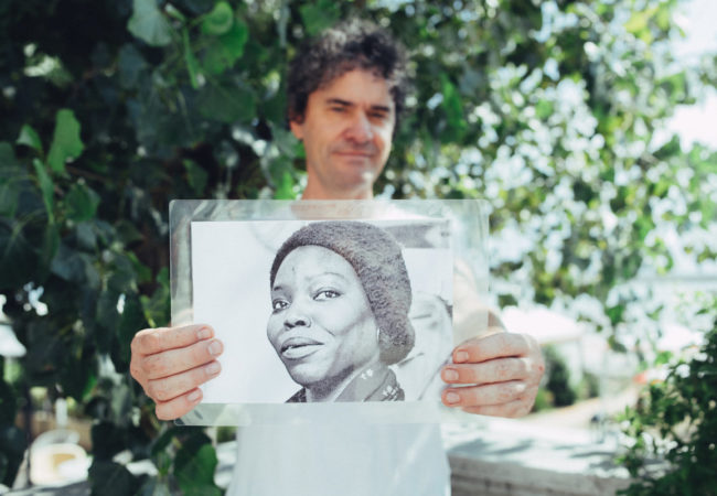 Mark Cousins and Senegalese director Safi Faye (picture: The Italian Reve)