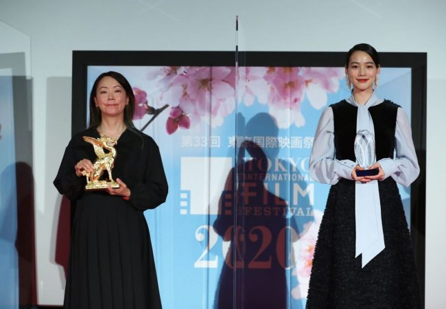 HOLD ME BACK Director Akiko OHKU and Actress Non, Audience Award winner of 33rd TIFF (c) 2020 TIFF