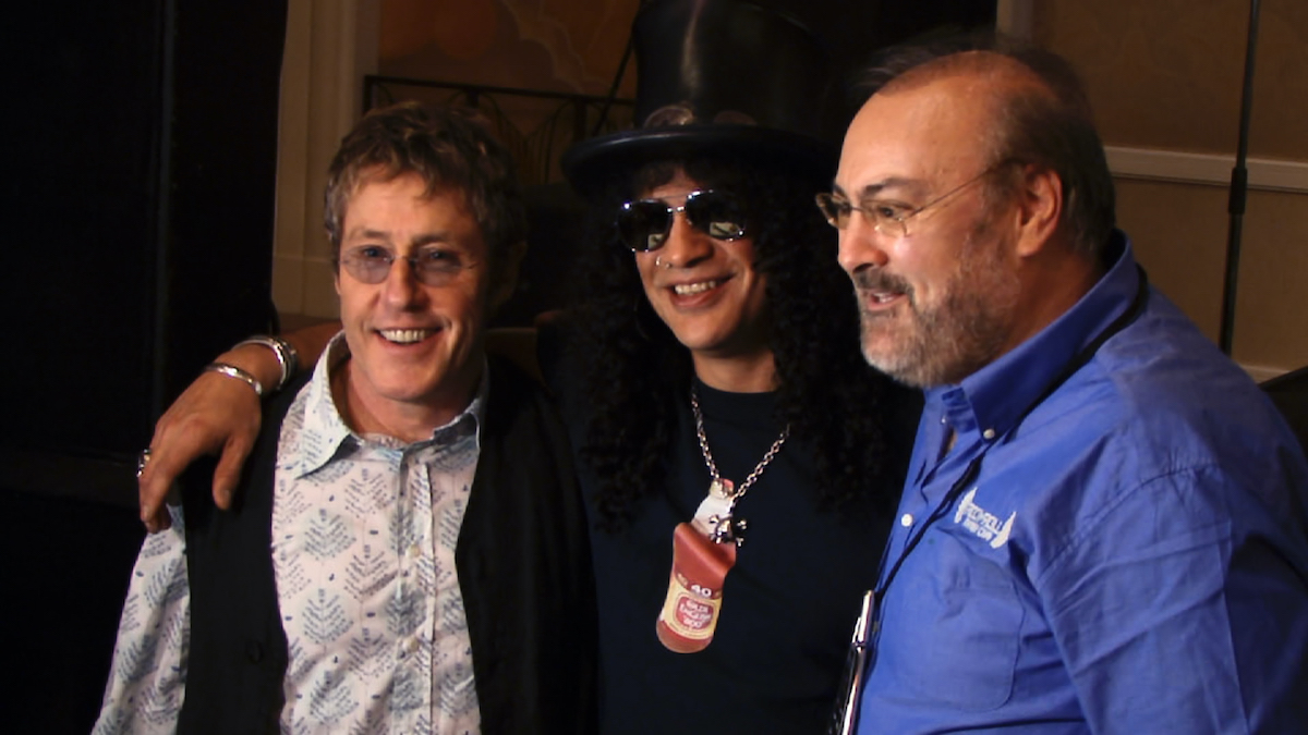 Roger Daltrey, Slash and David Fishof in Rock Camp, The Movie documentary
