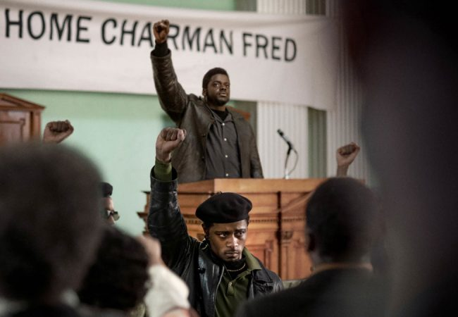 Lakeith Stanfield and Daniel Kaluuya appear in Judas and the Black Messiah by Shaka King, an official selection of the Premieres section at the 2021 Sundance Film Festival. Courtesy of Sundance Institute | photo by Glen Wilson.