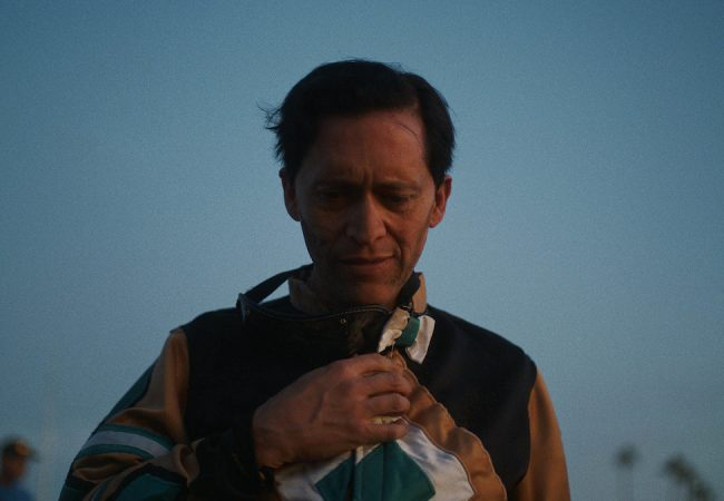 Clifton Collins Jr. appears in Jockey by Clint Bently, an official selection of the U.S. Dramatic Competition at the 2021 Sundance Film Festival. Courtesy of Sundance Institute | photo by Adolpho Veloso.