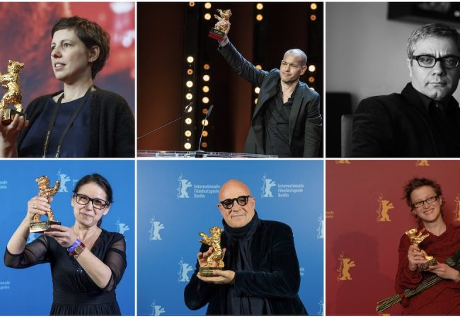 International Jury of the 71st Berlinale (from t. l. to b. l. clockwise): Adina Pintilie, Nadav Lapid, Mohammad Rasoulof, Jasmila Žbanić, Gianfranco Rosi, Ildikó Enyedi. © Photo: see single portrait