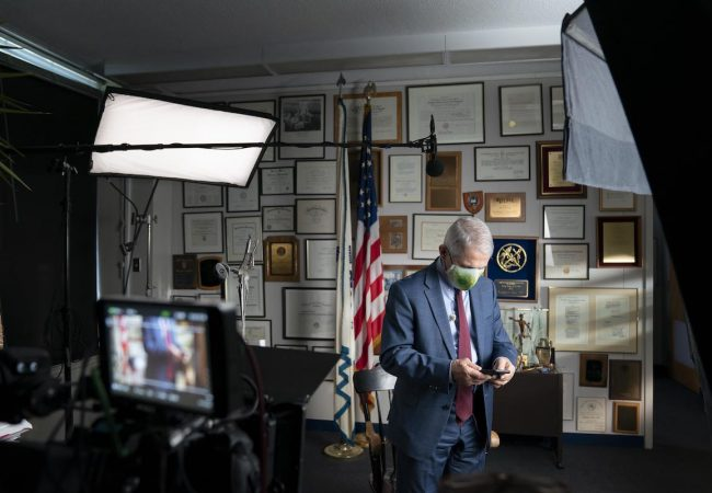 """Fauci"" Dr. Anthony Fauci during an interview at the NIH in Bethesda, MD. (National Geographic/Visko Hatfield)"