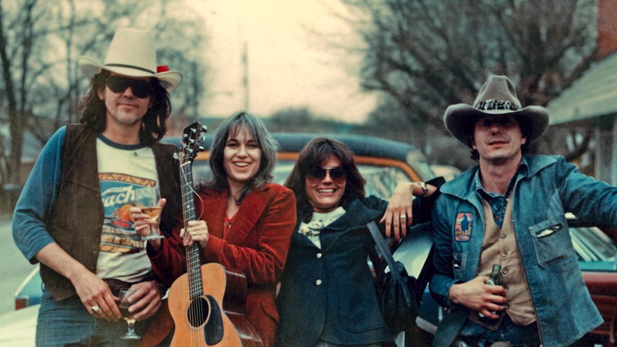Guy Clark, Susanna Clark, Susan Walker, Jerry Jeff Walker, Nashville, TN circa 1974. | Credit: unknown