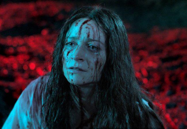 Niamh Algar appears in Censor directed by Prano Bailey-Bond.