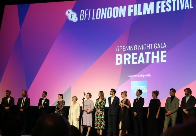 The cast and crew of 'Breathe' at BFI London Film Festival
