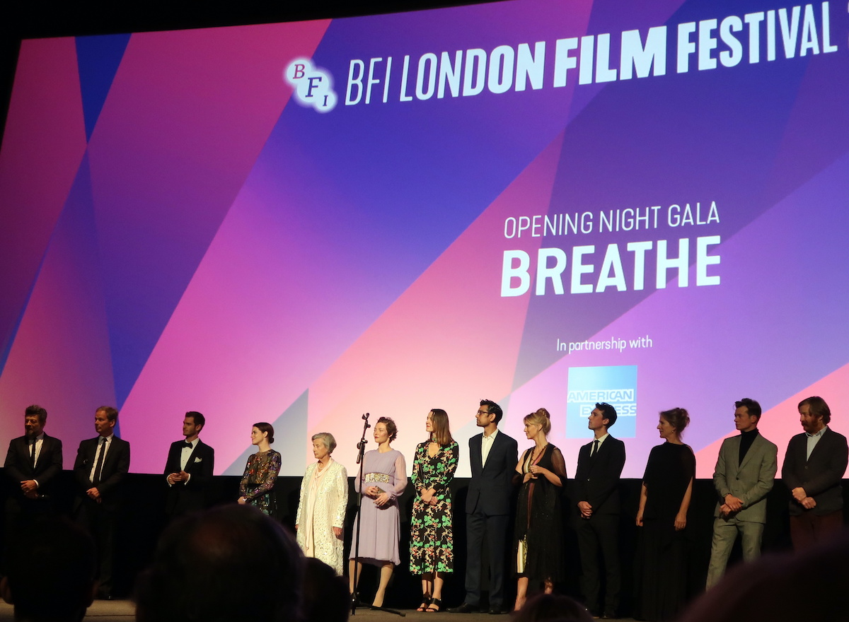 The cast and crew of'Breathe' at BFI London Film Festival
