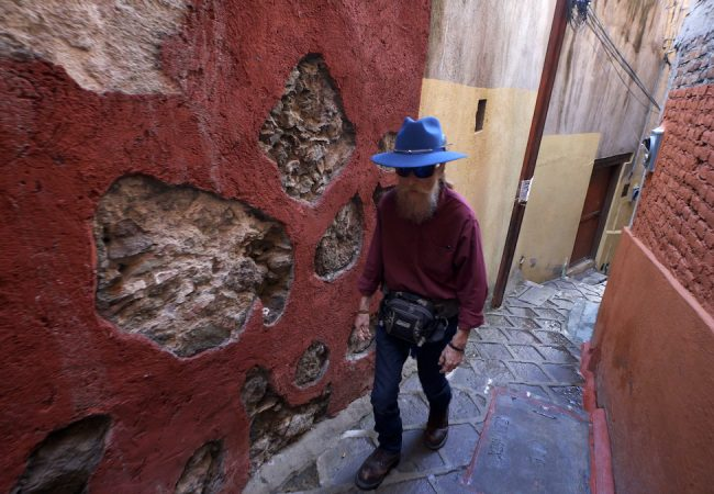 The Face Of Anonymous. Commander X in exile in the picturesque city of Guanajuato. With its narrow alleys and colorful, colonial-era architecture, it's one of the most beautiful and historically significant cities in Mexico and is a UNESCO World Heritage Site.