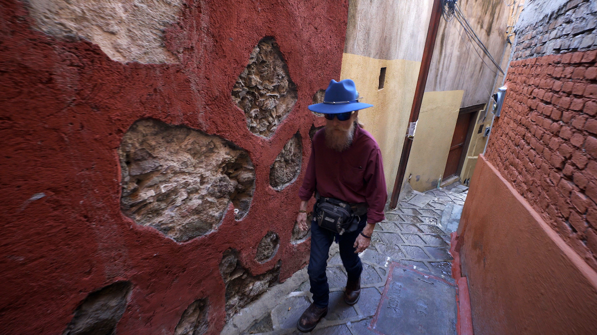 The Face Of Anonymous. Commander X in exile in the picturesque city of Guanajuato.