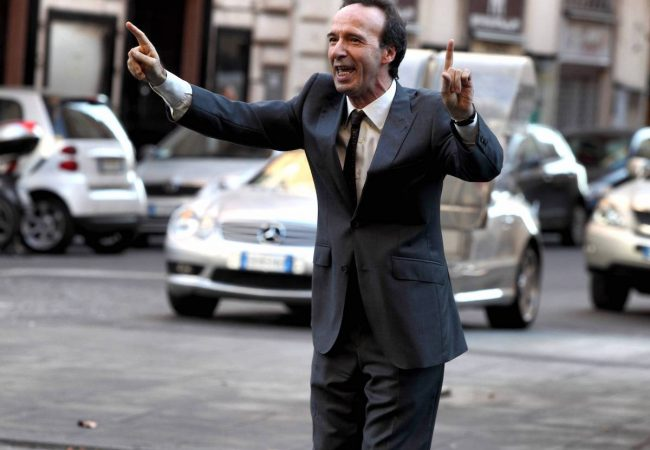 Roberto Benigni as Leopoldo in To Rome with Love. Photo by Philippe Antonello (c) Gravier Productions, Inc., Courtesy of Sony Pictures Classics