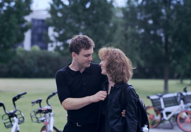 """Franz Rogowski as """"Christoph"""" and Paula Beer as """"Undine"""" in Christian Petzold's UNDINE. Courtesy of IFC Films."""