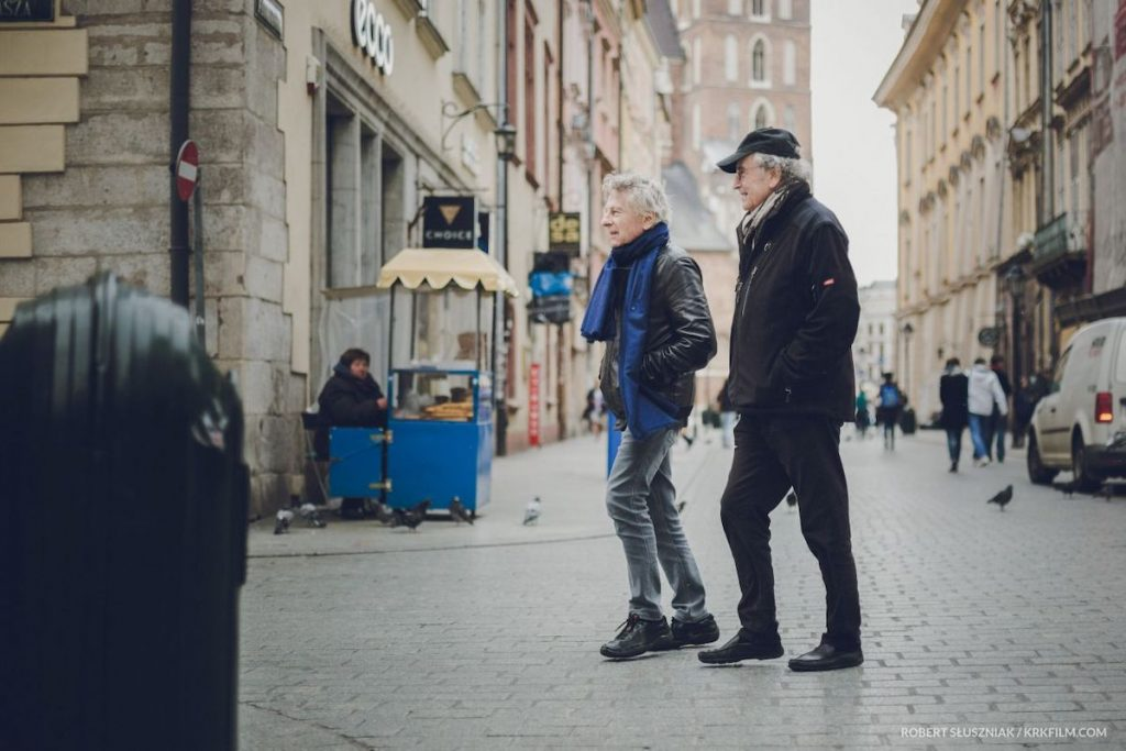 "Roman Polański and Ryszard Horowitz in ""Polański, Horowitz. Hometown"" dir.ected by Mateusza Kudła, Anna Kokoszka-Romer"