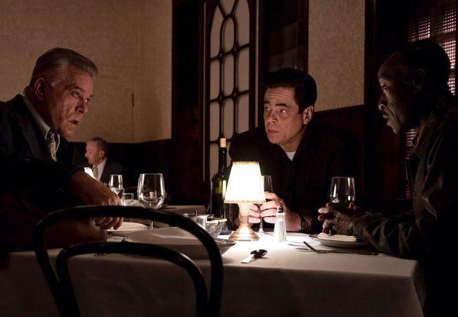 No Sudden Move stars Don Cheadle, Benicio del Toro, David Harbour, with Ray Liotta. Photo credit: Claudette Barius