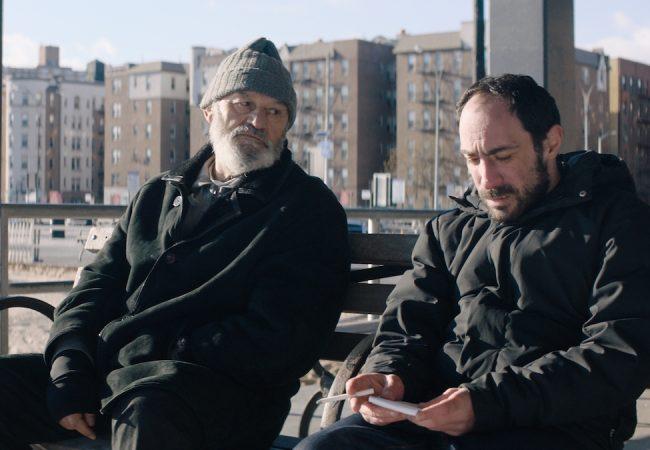 (l. to r.) Levan Tediashvili (Kakhi) and Giorgi Tabidze (Soso) in Brighton Beach, Brooklyn, in Brighton 4th, directed by Levan Koguashvili. Image courtesy of Kino Iberica.