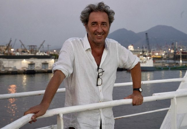 """Paolo Sorrentino on the set of """"The Hand of God"""" Photo by Gianni Fiorito"""