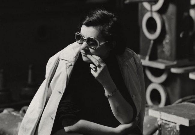 Márta Mészáros on the set of Don't Cry, Pretty Girls! (picture: Gyula Szóvári)
