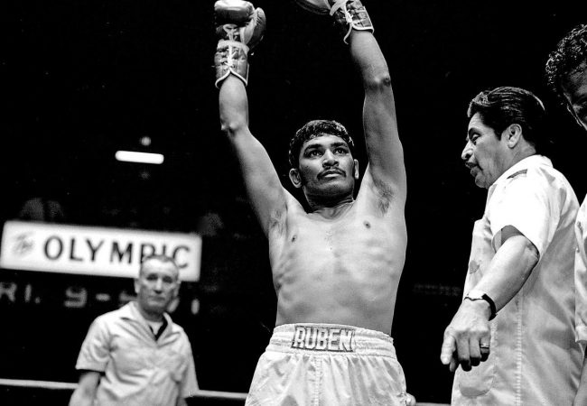 18th & Grand: The Olympic Auditorium Story. Crowd favorite Ruben Navarro, 'The Maravilla Kid' from East Los Angeles, circa 1970. Photo by Theo Ehret, courtesy Willard Ford.